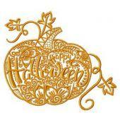 Happy Halloween pumpkin embroidery design 2