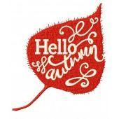 Hello autumn machine embroidery design 3