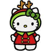 Hello Kitty Christmas Costume embroidery design