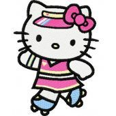 Hello Kitty Skating embroidery design 1