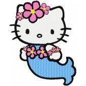 Hello Kitty Mermaid embroidery design