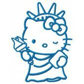 Hello Kitty Statue of Liberty embroidery design 2