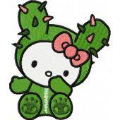 Hello Kitty Tokidoki embroidery design 1