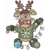 I will be like a Christmas tree embroidery design