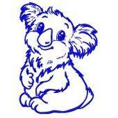 I'm koala girl machine embroidery design 3