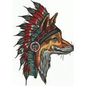 Indian fox embroidery design 3