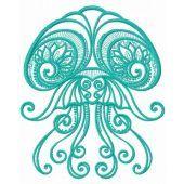 Jellyfish machine embroidery design 3