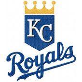 Kansas City Royals logo machine embroidery design