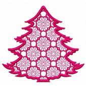 Lace fir tree machine embroidery design