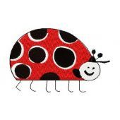 Ladybug machine embroidery design