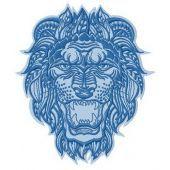 Lion machine embroidery design 3