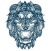 Lion embroidery design 4