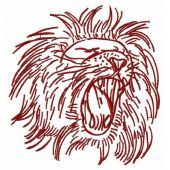 Lion machine embroidery design 6