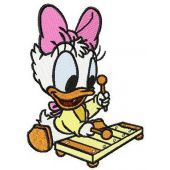 Little Daisy Duck plays xylophone machine embroidery design