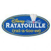 Ratatouille Logo embroidery design