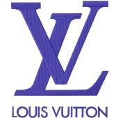 Louis Vuitton logo machine embroidery design