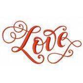 Love machine embroidery design 2