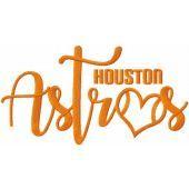 Loving Houston Astros embroidery design