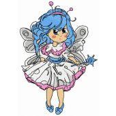 Malvina fairy embroidery design