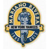 Mariano Rivera New York Yankees patch machine embroidery design