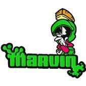 Marvin embroidery design