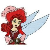 Pirate fairy machine embroidery design