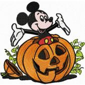 Mickey Mouse Helloween embroidery design