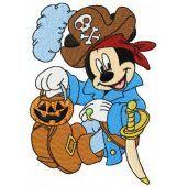 Mickey Mouse pirate costume machine embroidery design