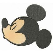 Mickey's kiss embroidery design