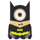Minion batman costume machine embroidery design