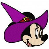 Minnie Mouse witch machine embroidery design