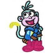 Monkey Scout embroidery design