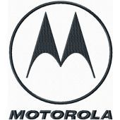 Motorola logo machine embroidery design