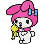 My Melody Spring Songs machine embroidery design