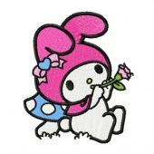 My Melody Playing a Pipe embroidery design