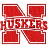 Nebraska Cornhuskers Primary logo machine embroidery design