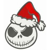 New Santa in Halloween town embroidery design