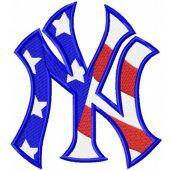 New York Yankees Flag logo machine embroidery design