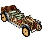 Wooden Car embroidery design