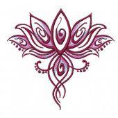 Oriental flower embroidery design 5