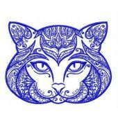 Ornament cat machine embroidery design 2