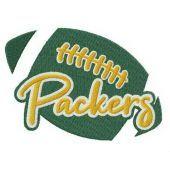 Packers fan logo embroidery design