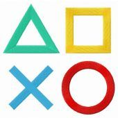 PlayStation logo embroidery design