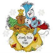 Presents from the North Pole embroidery design 2