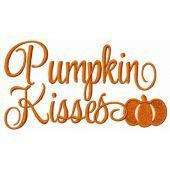 Pumpkin Kisses embroidery design