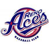 Reno Aces Baseball Club logo machine embroidery design