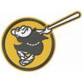 San Diego Padres alternative logo embroidery design