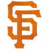 San Francisco Giants cap insignia machine embroidery design