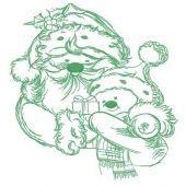 Santa and snowman embroidery design 5