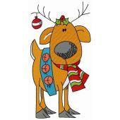 Santa's deer embroidery design